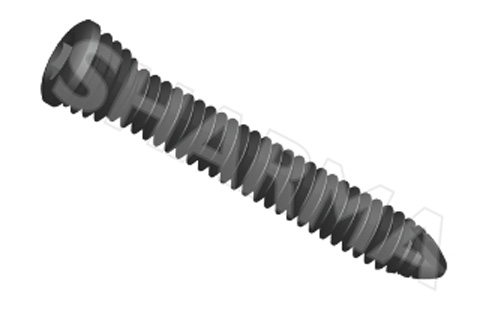 Cortex Locked Screw 5.0mm (Solid)(Hex Drive)