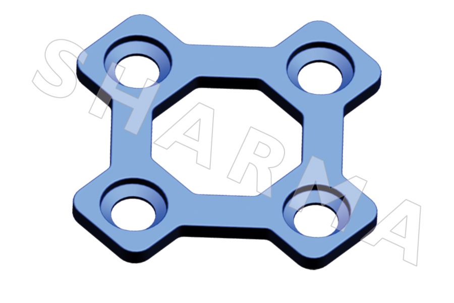 3 Dimensional Bone Plate Square Segments