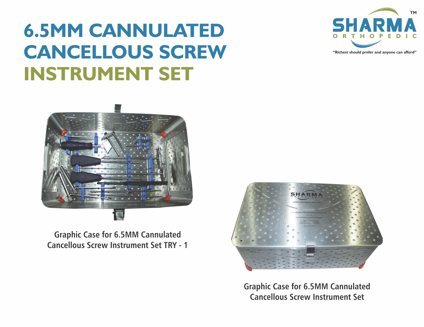 6.5MM CANNULATED CANCELLOUS SCREW INSTRUMENT SET